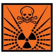 Hazard safety sign - Radioactive 061